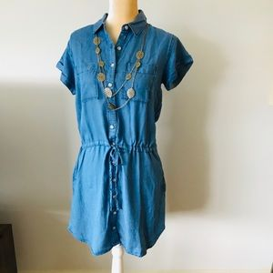 Thread & Supply Shirt Dress Blue Size S